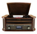 GRAMOFON RETRO DAB+ CD USB FM AM KASETA BLUETOOTH
