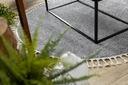 DYWAN BOHO shaggy frędzle koło 120 szary #GR4013 Wzór jednobarwny