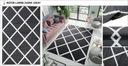 DYWAN 180x250 CANVAS BCF MIĘKKI WŁOS PLUSZOWY Kolor biały czarny odcienie szarości wielokolorowy