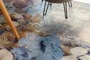MIĘKKI DYWAN SOFT 160x220 KWIATY niebieski #AT2260 Grubość 15 mm