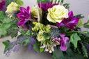 WIĄZANKA Sztuczne kwiaty na grób stroik + bukiet