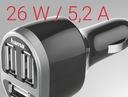 Hama ładowarka samochodowa 3 x USB / 12 V / 5,2 A Marka inna