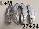 Nakładki 3D zaciski hamulce BREMBO L+M Srebrne /bi