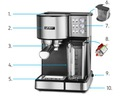 Ciśnieniowy Ekspres do kawy AUTOMATYCZNY Yoer INOX EAN 5900779770324