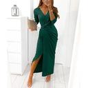 SUKIENKA KOBIECA w rozcięciem elegancka MAXI Kolor zielony