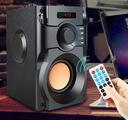 GŁOŚNIK BEZPRZEWODOWY 350W DREWNO RADIO FM BOOMBOX Wysokość produktu 19.5 cm