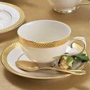 VILLA ITALIA RARITA Serwis obiadowy + kawowy 12/85 Kolor biały żółty i złoty