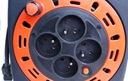 Przedłużacz zwijany w kasecie z lampką 15m 4 gn Długość kabla 15 m