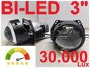 Super Mocne Soczewki BI-LED 3'' szerokie vs KOITO
