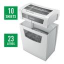Niszczarka Leitz IQ Home Office 10 kartek DIN P4 Rodzaj cięcia konfetti