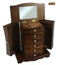 Szkatułka komoda kuferek na biżuterię brązowa 29cm Wysokość 29 cm