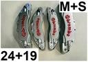 Nakładki 3D zaciski hamulce BREMBO M+S Srebrne ++