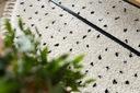 Dywan BOHO shaggy koło 120 KROPKI frędzle #GR3846 Materiał wykonania polipropylen