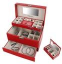 Kuferek na biżuterię czerwony szkatułka glamour Waga (z opakowaniem) 4 kg