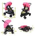 Wózek spacerowy NEVADA Summer Baby kolor różowy Stelaż Metalowy