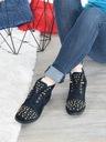 Granatowe botki zdobione Shoe Size 40 Kolor Granat Płeć Produkt damski