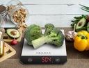 Waga kuchenna elektroniczna INOX LED TRANSA Komunikacja wyświetlacz wskaźnik poziomu baterii wskaźnik przeciążenia