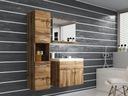 Meble łazienkowe szafka pod umywalkę lustro słupek EAN 5904238219706