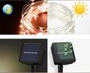 Girlandy Lampki Ogrodowe Solarne LED 200 szt 20m Cechy dodatkowe wodoodporność zasilanie energią słoneczną