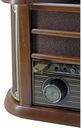 GRAMOFON RETRO RADIO DAB+ FM CD MP3 USB KASETA Napęd paskowy