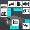 PROJEKTOR RZUTNIK LCD FULL HD 2500LM GŁOŚNIK 140'' Pobór mocy 60 W