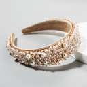 Opaska szeroka diadem biała Ślub perły perełki EAN 5907570816671