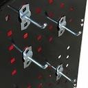 Wózek warsztatowy narzędziowy 3PA cz. ze ściankami Waga produktu z opakowaniem jednostkowym 15 kg