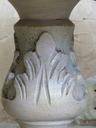 Stolik Ława zmalowana w beżowym różu patynowana Materiał Drewno