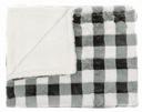 Miękki Koc Narzuta PREMIUM 120x160 Szary w kratkę Długość 160 cm