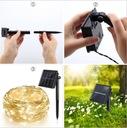 Girlandy Lampki Ogrodowe Solarne LED 200 szt 20m Zasilanie bateryjne solarne