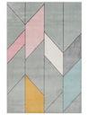 Dywan Sanford pastelowy 160x220 Geometria canvas Kod producenta wzór różowy Szary młodzieżowy dziecięcy fryz cm
