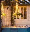 200 LED Girlandy Lampki Ogrodowe Solarne Wysoki 2m Długość 200 cm