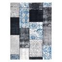 DYWAN VINTAGE 133x190 PATCHWORK niebieski #B852 Kolor czarny wielokolorowy kremowy odcienie szarości odcienie niebieskiego