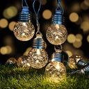 Girlandy Lampki Ogrodowe Solarne LED 10szt Żarówki Seria M0001