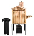 Wędzarnia drewniana ogrodowa opalana Cały zestaw Waga produktu z opakowaniem jednostkowym 30 kg