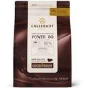 Czekolada gorzka POWER 80% kakao Callebaut 2,5kg