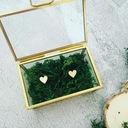 Szklane pudełko SZKATUŁKA na obrączki ŚLUB WESELE