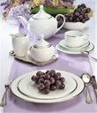 VILLA ITALIA HATTY PLATIN Serwis obiadowy + kawowy Kształt Okrągły
