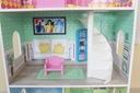 Wysoki drewniany domek dla lalek + mebelki ECOTOYS Głębokość produktu 24 cm