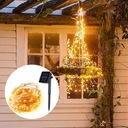 Girlandy Lampki Ogrodowe Solarne LED 200 szt 20m Barwa światła ciepła biała