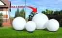 Kule ogrodowe - kula ogrodowa biała 40cm + oprawa Rodzaj lampa stojąca