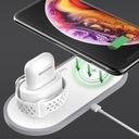 Ładowarka Qi HOCO 3w1 Apple iPhone Watch AirPods Złącza USB typ C