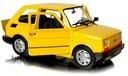 FIAT 126p Duży MALUCH Samochód PRL Auto Welly 1:21 Stan złożenia Całość / die cast