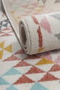 Dywan pastelowy młodzieżowy 160x220 cm Trójkąty Rodzaj z krótkim włosiem