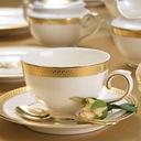 VILLA ITALIA RARITA GOLD Serwis obiadowy na 12 os Kolor biały żółty i złoty