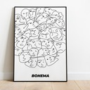 "Plakat ""Bohema"" Wysokość 100 cm"
