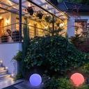 LAMPA KULA OGRODOWA LED SOLARNA RGB 30cm PILOT Klasa energetyczna A+