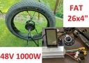 ZESTAW koło silnik 1000W rower FAT sterownik LCD