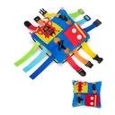 Montessori zabawka - poduszka z klamerkami
