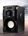 GŁOŚNIK BEZPRZEWODOWY 350W DREWNO RADIO FM BOOMBOX Złącza czytnik kart pamięci microUSB USB AUX